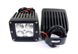 Wholesale 16w Led Bars - 2 x Cube 16W CREE LED Flood Fog Driving Light For Off Road Bar Jeep Dually Truck