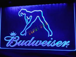 Wholesale Budweiser Led Sign - LE133-b Budweiser Exotic Dancer Stripper Bar Light Sign home decor shop crafts led sign