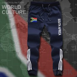 Wholesale Fashion Nation - Wholesale- South Africa mens pants joggers jumpsuit sweatpants track cargo sweat fitness casual nation country flag men's African ZA RSA