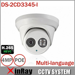 camera ds Promo Codes - 2015Newest 4MP CCTV Camera HIK DS-2CD3345-I With H.265 IR-Cut Array Night Vision 30M Multilanguage Dome Camera