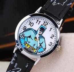 I bambini orologi Batman Cartoon polso quarzo Fashion Girl bambini studente carino in pelle sportivo analogico migliore vendita da orologio analogico del fumetto fornitori