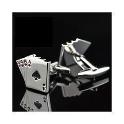 Wholesale Steel Poker - FC Jewellery 4A poker cufflinks male French shirt cuff links Cards Design cufflink Fashion for men's Jewelry Gift 150078