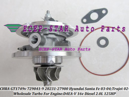 Wholesale Turbocharger Gt1749v - Turbo Cartridge CHRA GT1749V 729041-5009S 28231-27900 729041 For Hyundai Trajet 2002-08 Santa Fe CRDI 2003-05 D4EA D4EA-V 2.0L Turbocharger