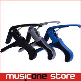 Wholesale Quick Change Capo - High Quality Colorful Metal New Black Quick Change Clamp Key Acoustic Classic Guitar Capo For Tone Adjusting MU0294