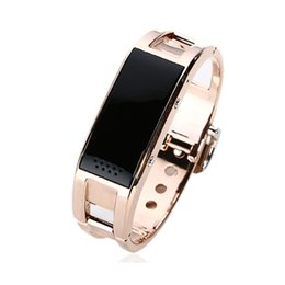 Wholesale Bluetooth Vibrate - Bluetooth watch D8 Full steel Smart Bracelet Sync phone LED Digital Watch with Vibrate can answer phone for Smart watch