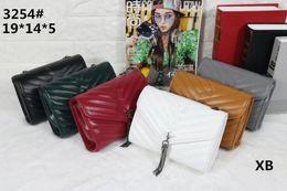 Wholesale famous message - Women fashion bag famous brand handbag PU leahter chain bag clutch lady message tote bags one shoulder handbags purse