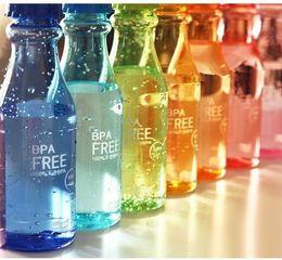 Wholesale Sport Children Water Bottle - 12PCS Novelty 500ML Kawaii Coke Sports Bottle Cup ; Drinking Cup Sports Water Bottle ; Pendant Holding Water Bottle