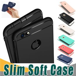 Wholesale Case Cover For Iphone Wholesale - Slim Soft TPU Silicone Case Cover Candy Colors Matte Phone Cases Shell with Dust Cap For iPhone X 8 7 6 6S Plu 5S
