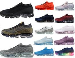 Wholesale Red Hot Hard - 2018 New Vapormax Mens Black Running Shoes For Men Sneakers Women Fashion Athletic Sport Shoe Hot Corss Hiking Jogging Walking Outdoor Shoe