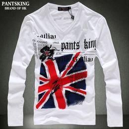 Wholesale England Flag T Shirt Men - Wholesale-High Quality New Autumn Fashion Casual Cotton T Shirt Men England Flag T Shirt Men Long-sleeved T Shirt Size S-XXL