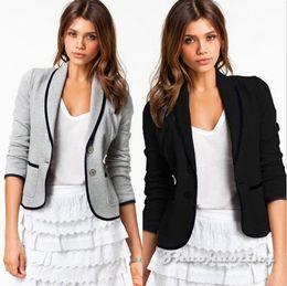 Wholesale Fringe Tassels - 2016 HOT women new fashion brand long design long sleeve casual suits coat spring&autumn fringe jackets jaqueta feminina plus sizeXL outwear
