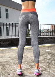 Wholesale Workout Pants For Women - Wholesale-Gym Women Yoga Clothing Sports Pants Legging Tights Workout Sport Fitness Bodybuilding And Clothes Running Leggings For Female