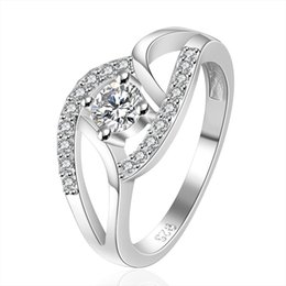 Wholesale unique style engagement rings - New Arrival Jewelry 925 Sterling Silver Rings Unique Design CZ Crystal Rings Jewelry European Style Rings
