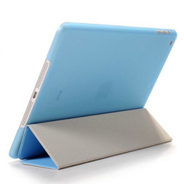 Wholesale Magnetic Front Smart Cover - Magnetic Front Smart Cover Protective Back Case for iPad Mini 2 3 4 5 Air 6 Plastic Matte Folding Cases Shell Solid Color
