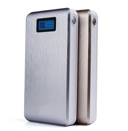 Wholesale Super Lcd - Gold !New Super High Capacity Dual Micro USB Charger 20000mAh Power Bank with digital LCD for Smartphones,Tablets