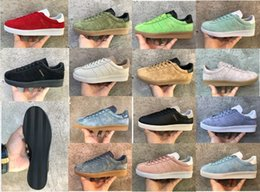 Wholesale Button Clean - High Quality 2017 Casual Topanga Clean Trainer Chukka 14 Colors Lightweight Breathable Walking Hiking Smith Stan Suede Shoes Size36-45