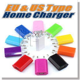Wholesale Eu Plug Cable - Taking off price Wall Chargers 5V 1A EU US Plug usb charger adapter Universal AC Power Adapter For Iphone 6 iPhone 6 Plus Samsung S5 Note 4