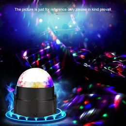 Wholesale Car Rhythm Light - RGB LED Car Atmosphere Lights Music Rhythm Activated Auto Decoration Lamps Bulbs Car Styling Decors DJ Disco Stage Effects free shipping