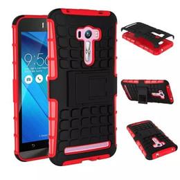 Canada Coque de téléphone TPU + PC 2in 1 en caoutchouc de téléphone portable Zenfone Selfie ZD551kl d'Asus armor Defender Hybrid Heavy Duty, la livraison est gratuite Offre
