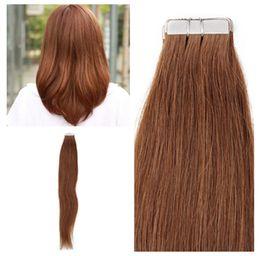 Indisches menschliches Haar 12-26inch PU-Band auf Haar Verlängerungen 2.5g / Pieces, silk gerade Welle 4 Farben für Wahl, freies DHL von Fabrikanten