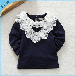 Wholesale Girls Top Nova - Free Shipping baby clothing nova fashion girl long sleeve t-shirts kids clothes for girls spring autumn tops in plain color