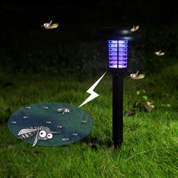 luz solar asesino de insectos Rebajas Mosquito Killer Luz de noche LED Energía solar Jardín al aire libre Jardín Luz de césped Mosquito Insecto Plaga Bug Zapper Atrapando Lámpara de linterna