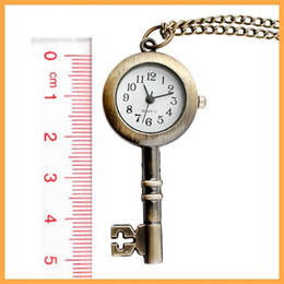 Wholesale Golden Chain Watches - Wholesale 600pcs lot golden snitch pocket Key watches necklace with chain antique pocket fob watches PW016