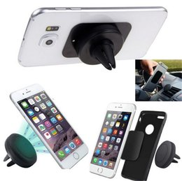Wholesale Iphone Car Vent Cradle - Car Air Vent Mount Cradle Holder Magnetic Bracket Car Stand Mount Holder 360 Degree Universal for iphone 7 6s Samsung S7 HTC Blackberry