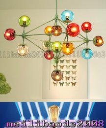Wholesale Glass Ball Globe - TOP26 10 15 21-Lights Globes Multi-Color MODO Chandelier Glass Ball Jason Miller Pendant Lamp Living Room Droplight Lights Hotel Lighting