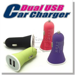 Wholesale Cell Phone Car Usb Charger - Mini Dual USB Car Charger, Dual port Lightning 3.1A(2.1A 1A) Rapid USB Car Adapte Cigarette Adapter for Apple Iphone and More Cell Phone
