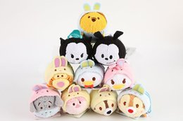 Wholesale Plush Mobile Cleaner - new Plush Toys TSUM TSUMS Cinderella Mickey Minnie Dolls Anime Mobile Screen Cleaner Key Chain Bag Hanger for Phone iPad
