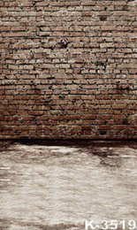 Wholesale Brick Wall Photography Backdrop - 5X7ft New Camera For Photos Vintage Backdrop Brick Wall Photography Background Muslin Computer Printed Digital StudioBackgrounds