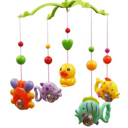 Wholesale Christmas Crib Bedding - Baby Toys for 0-12 Months Hand Bed Crib Musical Hanging Rotate Bell Ring Rattle Mobile free shipping