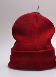 Wholesale Wholesale Embroidered Letters - New! Skull Skiing Cap Hat Beanie Knitted Warm Winter Hip-hop Sport Beanies 9 Colors Accept Mix Order Hot Promotion