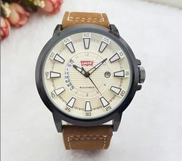 Wholesale Quartz Movt - Luxury Brand Date Japan Movt Men Quartz Casual Watch Army Military Sports Watch Men Watches Male Soft Leather Clock 2018
