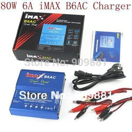 Wholesale 3s Lipo Battery Free Shipping - Powerful 80W 6A iMAX B6-AC B6AC Lipo NiMH 3S RC Battery Balance Charger With Color Package Box Free Shipping