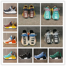 Wholesale Racing Sun - 2018 new Human Race NMD Hu Running Shoe cheap Pharrell Williams NMD HUMAN RACE discount sport shoes noble ink sun glow pale nude