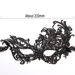 Wholesale Embroidery Half Face Mask - 1pcs Fashion Sexy Embroidery Black Lace Mask Lady Cutout Eye Face Mask Masquerade Mysterious Masks For Home Party Fancy Costume