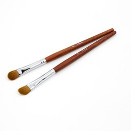 Wholesale Mink Makeup Brushes - Brushes Makeup Sable Brown mink eye brush wooden handle 4 pcs lot mounted single Brushes Set Makeup Brush Jenny 7#9#