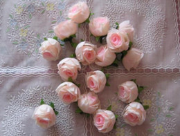 Wholesale Silk Rosebuds - Pink Color Silk Rose Rosebud Flower Head 1000pcs Artificial Flowers Rose Camellia Peony Flower Head Wedding Christmas Party