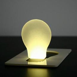 Wholesale Promotional Logo Gifts - 500pcs Mini Foldable Pocket LED Card Light Lamp Lights Colorful Promotional Gift LOGO Printing, Free Shipping