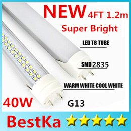 Tubo led luces super brillante online-4ft 1.2m 1200mm T8 Luces de tubo LED Súper brillante 18W 20W 22W 28W 40W Tubo fluorescente LED blanco cálido cálido y natural AC110-277V CE ROHS UL FCC