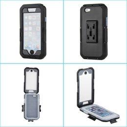 Wholesale Motorcycle Kickstands - Waterproof Phone Case Motorcycle Bike Mobile Phone Holder Handlebar Mount for iphone 6S Plus