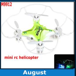 M9912 mini helicóptero de control remoto Quadcopter quadroid H7 2.4G 6 ejes de giro drone UFO Flip de 360 grados con luz LED desde fabricantes