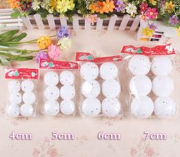 Wholesale Snowball Christmas Tree Ornaments - Christmas Decoration accessories 4--7cm snowball snow ball decorative Christmas balls 6pcs bag Hot sale Free Shipping