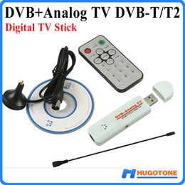 Wholesale Tv Tuner T2 - Digital DVB-T2 TV Stick PVR Analog USB TV Tuner Dongle Remote HD TV Receiver for DVB-T2 DVB-C FM DVB AV