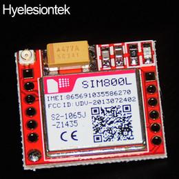 Wholesale Gsm Serial - SIM800L GPRS GSM Module PCB Micro SIM Board Quad Band Onboard Core Boards Antena TTL Serial Port Panel for Arduino 3.7-4.2V