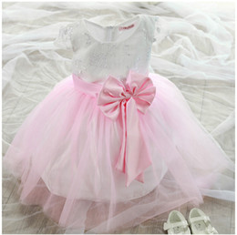 Wholesale Generation Lanterns - 2016 Kids Dresses For Girls Christmas Dress Kids Korean Summer Girls Costume Dress Flower Children A Wedding Princess Generation