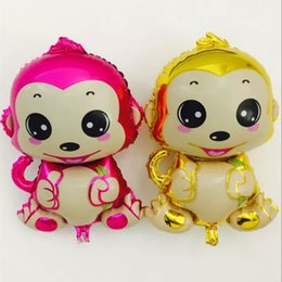 Wholesale Baby Shaped Balloon - 2016 New Large Handsome Monkey King Cartoon Foil balloons Kids cartoon Shape Birthday Party Decoration Weddding party Baby Boy balls toys