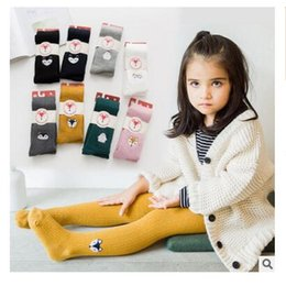 Wholesale Baby Hoses - Kids Clothing Fox Infant Tights Stocking For Baby Boys Girls Pantynose Cartoon Fox Baby Anti-slip Panty-hose Children Gifts Free Shipping